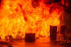 Газовые насосы взрывая Стоковые Фотографии RF