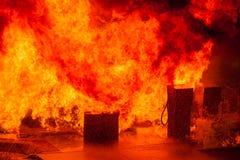 Газовые насосы на пожаре Стоковое фото RF