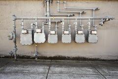 Газовые счетчики Стоковые Изображения