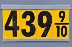 газовые цены Стоковая Фотография