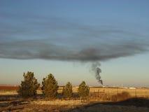 Газовый завод имея проблемы Стоковые Изображения