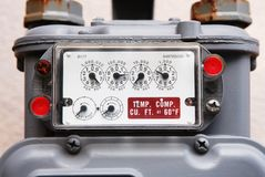 газовый счетчик селитебный Стоковое фото RF