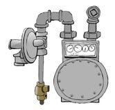 газовый счетчик Стоковая Фотография