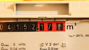 Газовый счетчик Timerlapse сток-видео