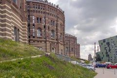 Газомеритель, Вена, Австрия стоковое фото rf