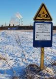 Газопровод знака Стоковые Изображения RF
