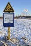 Газопровод знака Стоковое Изображение