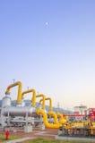 Газопровод на ноче Стоковое фото RF