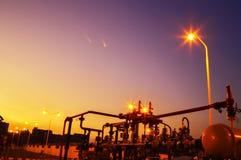 Газопровод на ноче Стоковые Фото