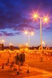 Газопровод на ноче Стоковое Изображение