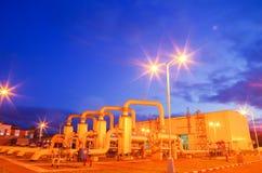 Газопровод на ноче Стоковая Фотография