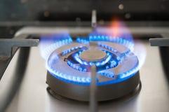 Газосжигательный от газовой плиты кухни Стоковая Фотография