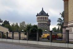 Газохранилище и ` Анна водонапорных башен и ` Jeanne, конец XIX века стоковое изображение
