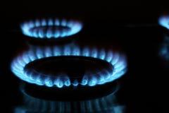 газ голубых пламен Стоковое Изображение