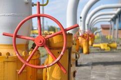 газ засыхания, индустрия, технология, газ, насос, кран; ventel; клапан Стоковое Изображение RF