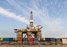 Газ и платформа буровой вышки в порте Тенерифе Стоковая Фотография