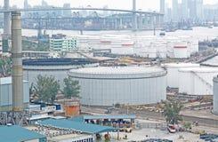 газ контейнера моста Стоковое Изображение