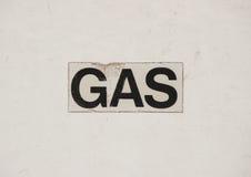 Газ текста med знака на установке газа Стоковое Изображение RF
