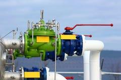 Газ, трубопровод горючего Стоковые Фото