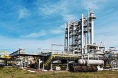 газ фабрики обрабатывая взгляд Стоковые Изображения RF