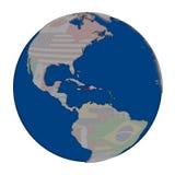 Гаити на политическом глобусе Стоковая Фотография RF