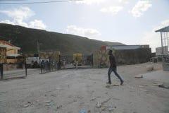 Гаитянская и доминиканская граница Стоковая Фотография RF