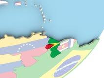 Гайана с флагом бесплатная иллюстрация