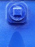 Гайка болтов винтов на машинном оборудовании голубой детали стальной пластины промышленном Стоковые Изображения