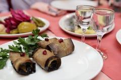 гайки баклажана тарелки кухни georgian национальные Стоковое Изображение