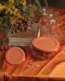 Гайки в стеклянном хранении еды Стоковые Фотографии RF