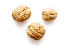 3 гайки, грецкий орех Стоковые Фото