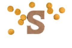 Гайки имбиря og пука с письмом шоколада Стоковые Фотографии RF