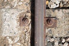 Гайки - и - болты железнодорожного верхнего viwe Стоковое Фото