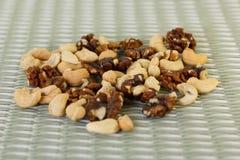 Гайки и грецкие орехи анакардии Стоковые Фотографии RF