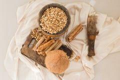 Гайки и waffles кокоса Стоковые Фото