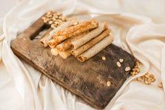 Гайки и waffles кокоса Стоковые Фотографии RF