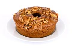 гайки меда торта Стоковая Фотография