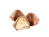 гайки молока сливк шоколада конфеты Стоковые Изображения RF