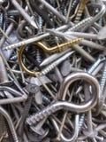 Гайки, ногти, винты, и крюки Стоковое Изображение