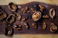 Гайки, ореховая скорлупа Стоковые Изображения