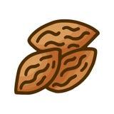 Гайки руки вычерченные doodle для дизайна обоев o Собрание логотипа природы Линия еда диеты искусства здоровая иллюстрация штока