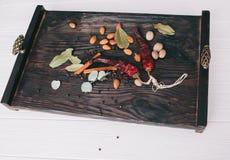 Гайки, специи и еда Стоковое Изображение RF
