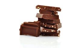 гайки темноты шоколада Стоковое Фото