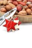 гайки Щелкунчика рождества корзины Стоковое Изображение RF