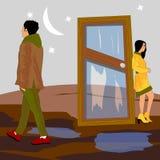 Гай и девушка разделили вверх навсегда стоковые изображения rf