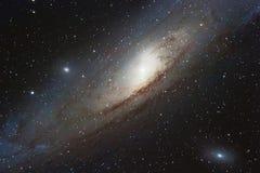 Галактика Андромеды, спиральная галактика в созвездии Andr стоковые фотографии rf