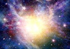 Галактика в открытом космосе Стоковое Фото