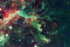 Галактика где-то в космическом пространстве Элементы этого изображения поставленные NASA стоковое изображение