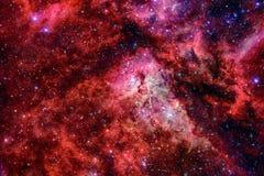 Галактика и межзвёздное облако в космосе Элементы этого изображения поставленные NASA стоковое фото rf