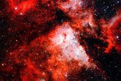 Галактика и межзвёздное облако в космосе Элементы этого изображения поставленные NASA стоковая фотография